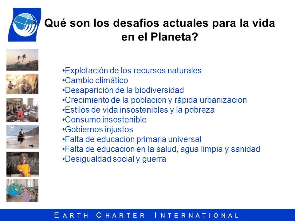 Qué son los desafios actuales para la vida en el Planeta