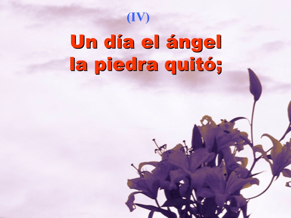 Un día el ángel la piedra quitó;