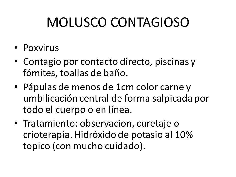 MOLUSCO CONTAGIOSO Poxvirus