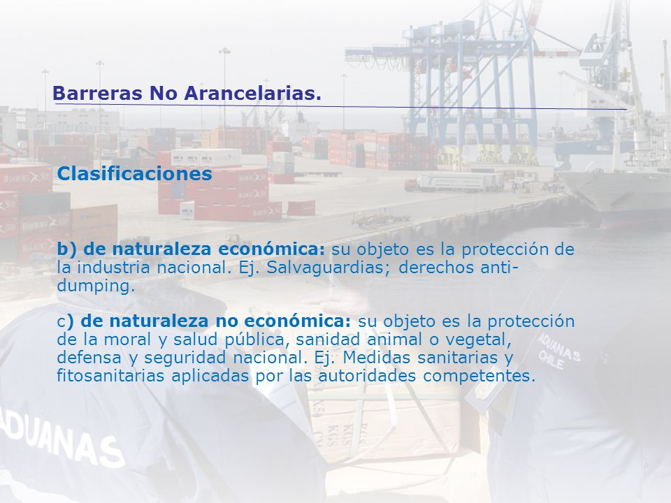Barreras No Arancelarias.