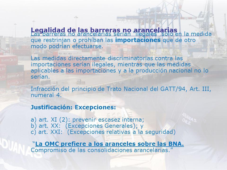 Legalidad de las barreras no arancelarias