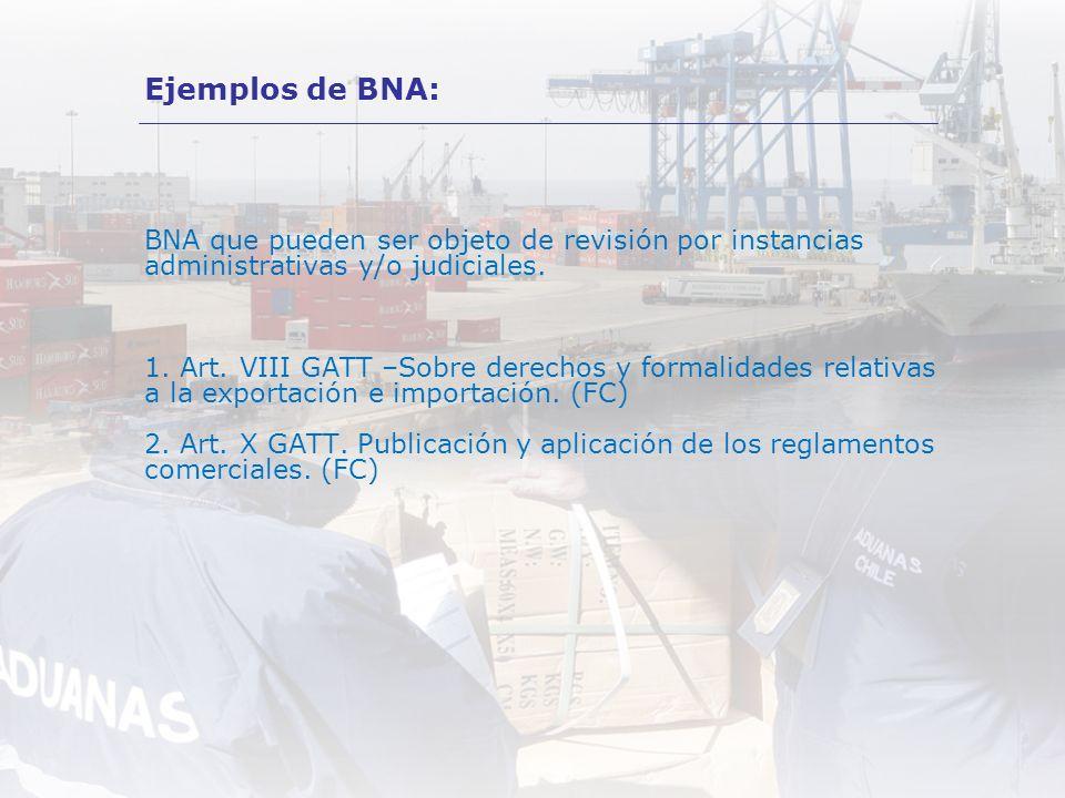 Ejemplos de BNA: