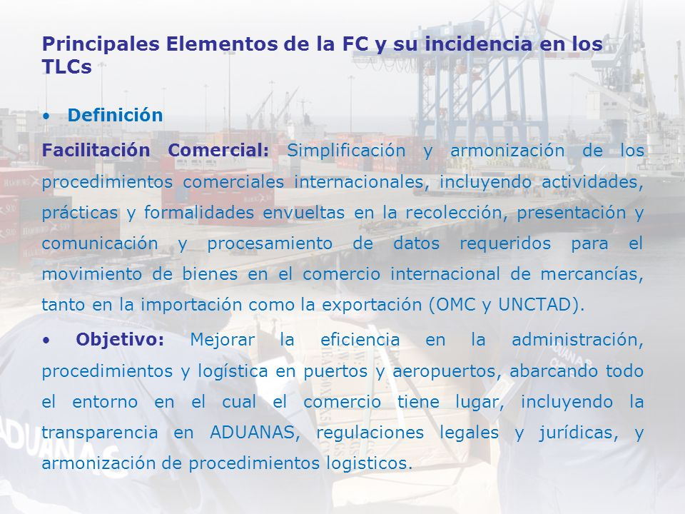 Principales Elementos de la FC y su incidencia en los TLCs