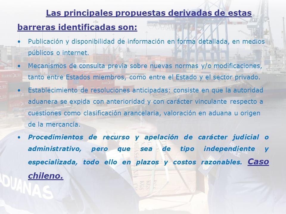 Las principales propuestas derivadas de estas barreras identificadas son: