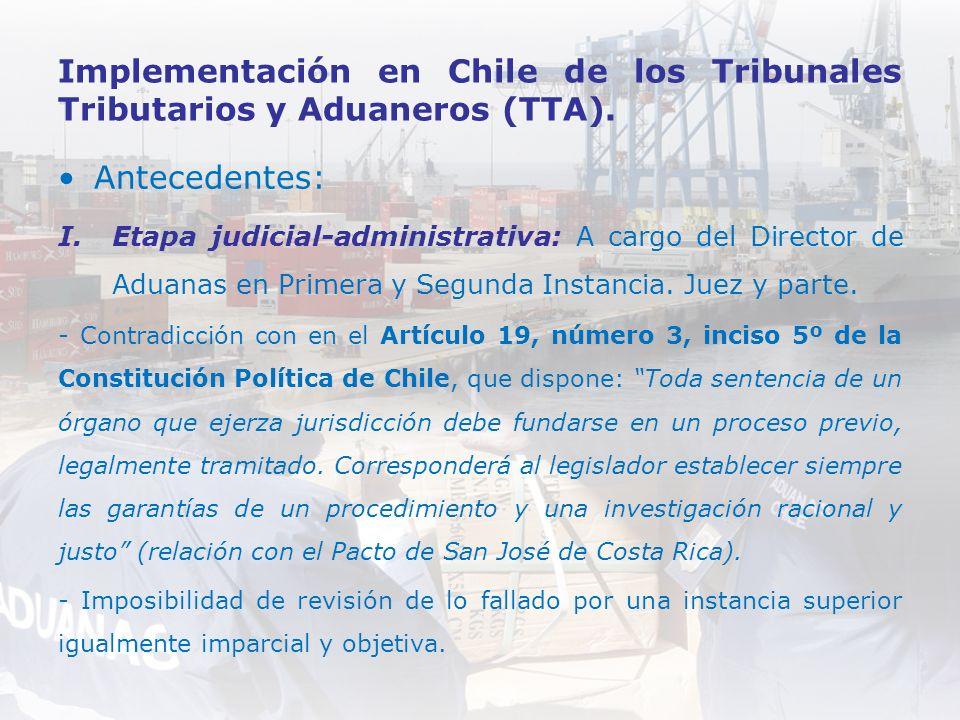 Implementación en Chile de los Tribunales Tributarios y Aduaneros (TTA).