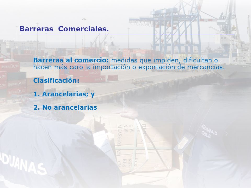 Barreras Comerciales.