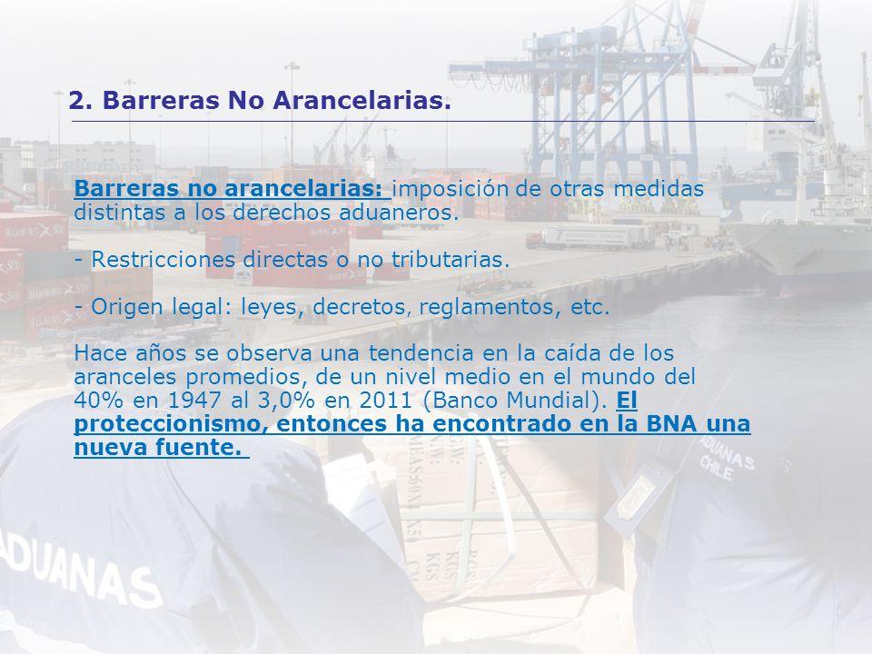 2. Barreras No Arancelarias.