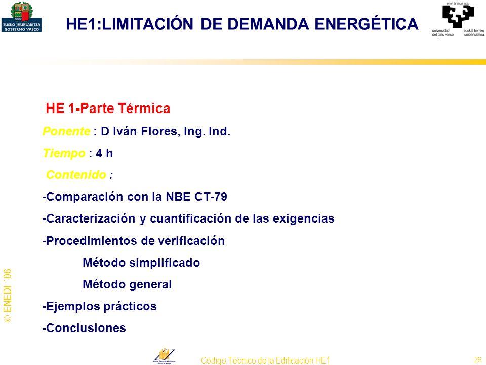 Código Técnico de la Edificación HE1
