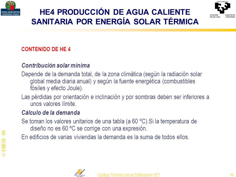 HE4 PRODUCCIÓN DE AGUA CALIENTE SANITARIA POR ENERGÍA SOLAR TÉRMICA