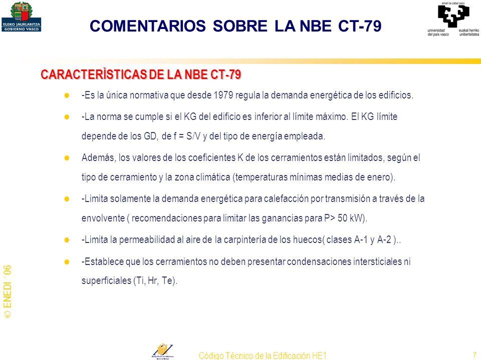 CARACTERÌSTICAS DE LA NBE CT-79