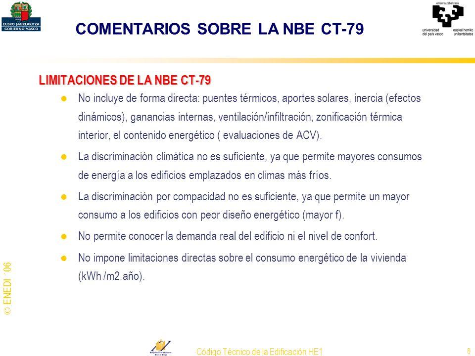 LIMITACIONES DE LA NBE CT-79