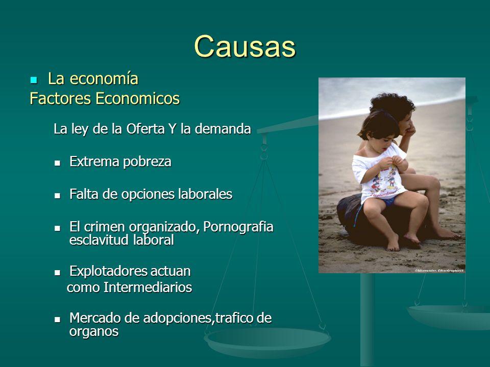 Causas La economía Factores Economicos Extrema pobreza
