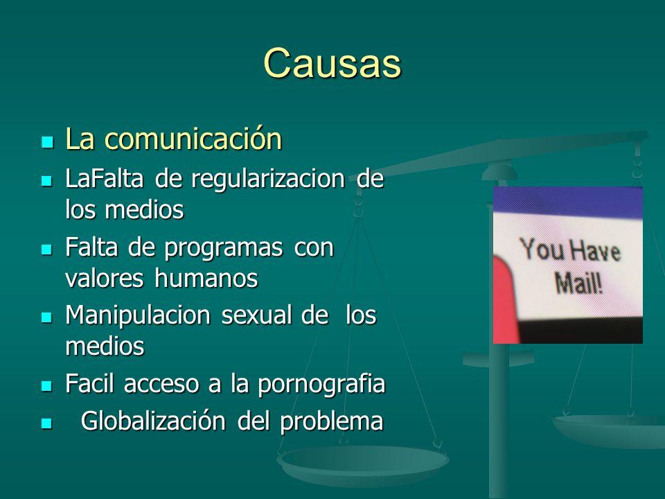 Causas La comunicación LaFalta de regularizacion de los medios
