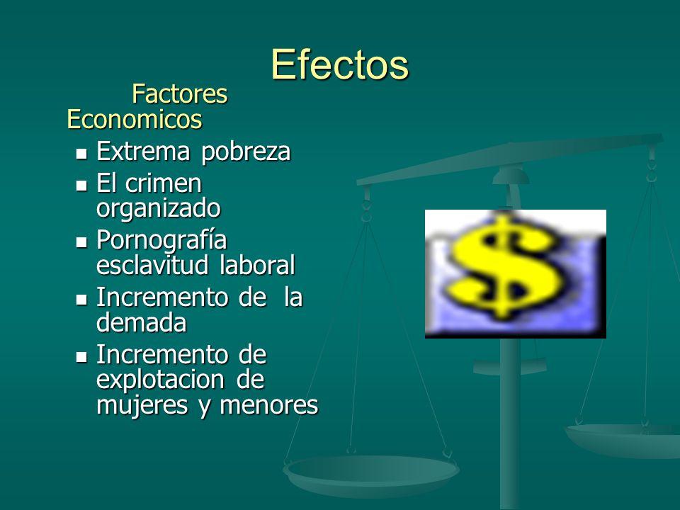 Efectos Factores Economicos Extrema pobreza El crimen organizado
