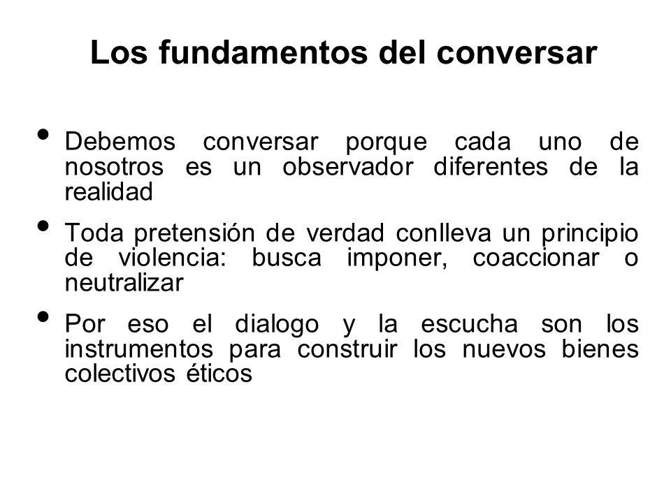 Los fundamentos del conversar