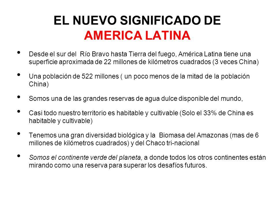 EL NUEVO SIGNIFICADO DE AMERICA LATINA