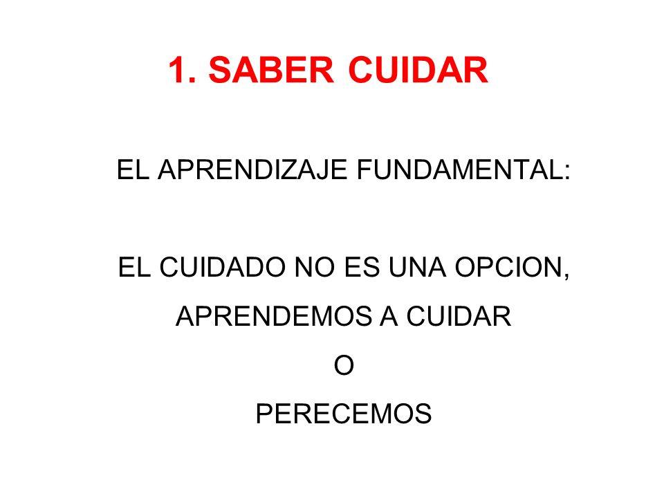 1. SABER CUIDAR EL APRENDIZAJE FUNDAMENTAL: