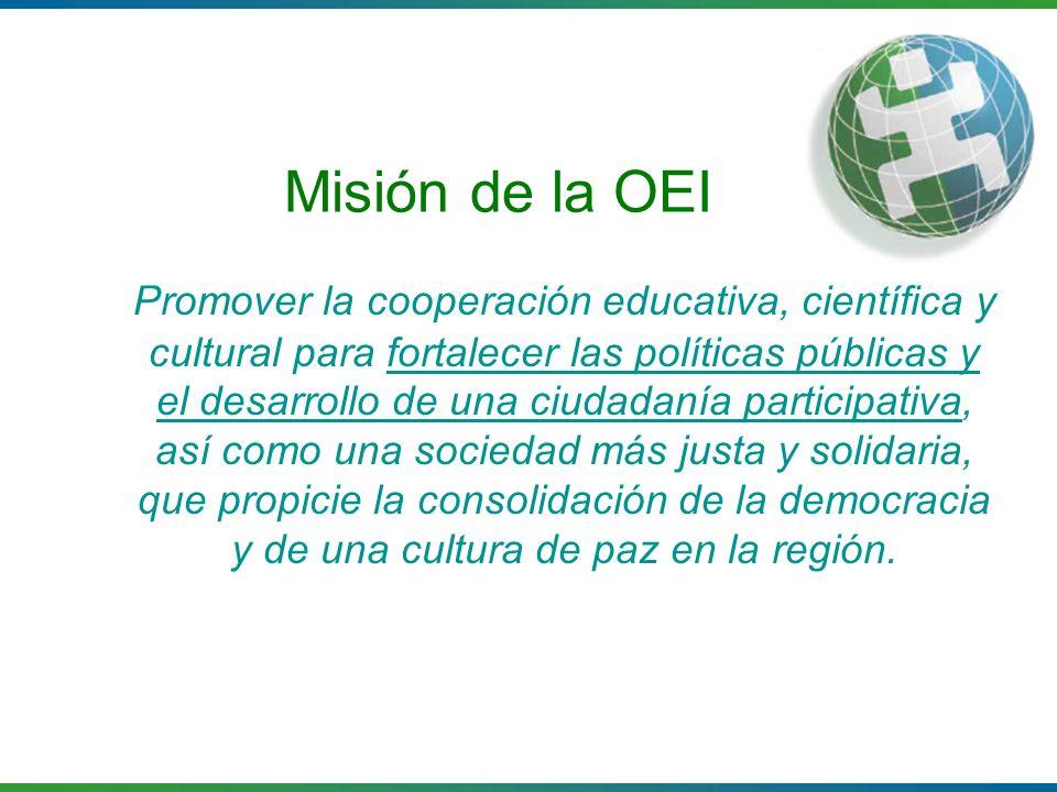 Misión de la OEI