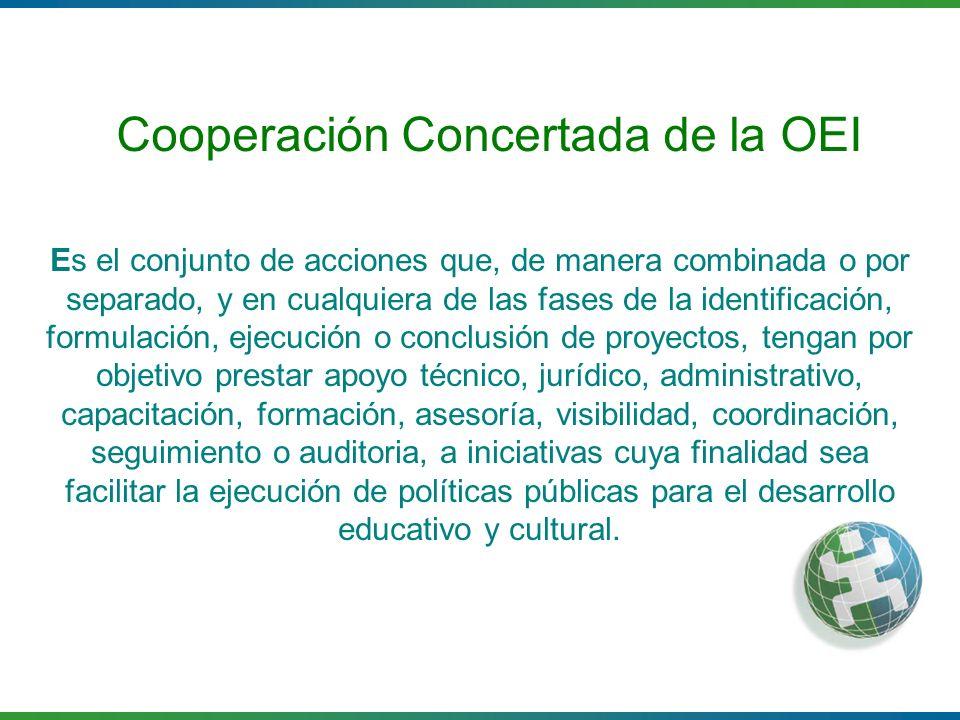 Cooperación Concertada de la OEI