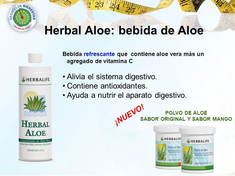 Herbal Aloe: bebida de Aloe SABOR ORIGINAL Y SABOR MANGO