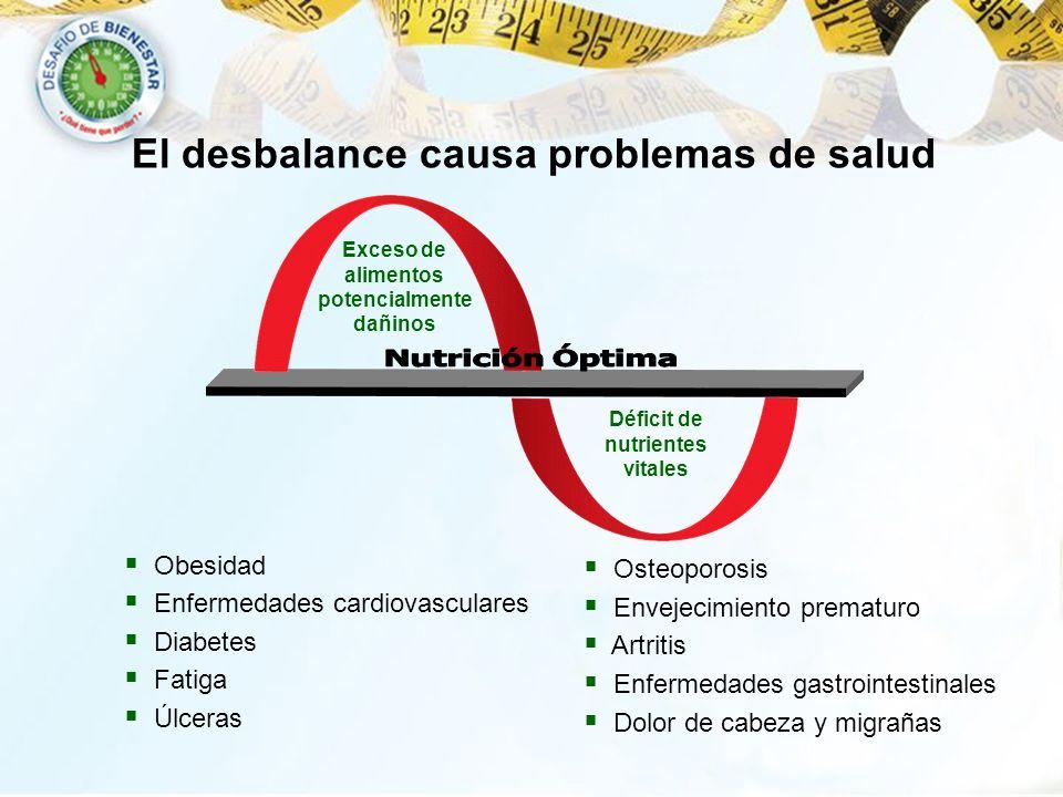 El desbalance causa problemas de salud