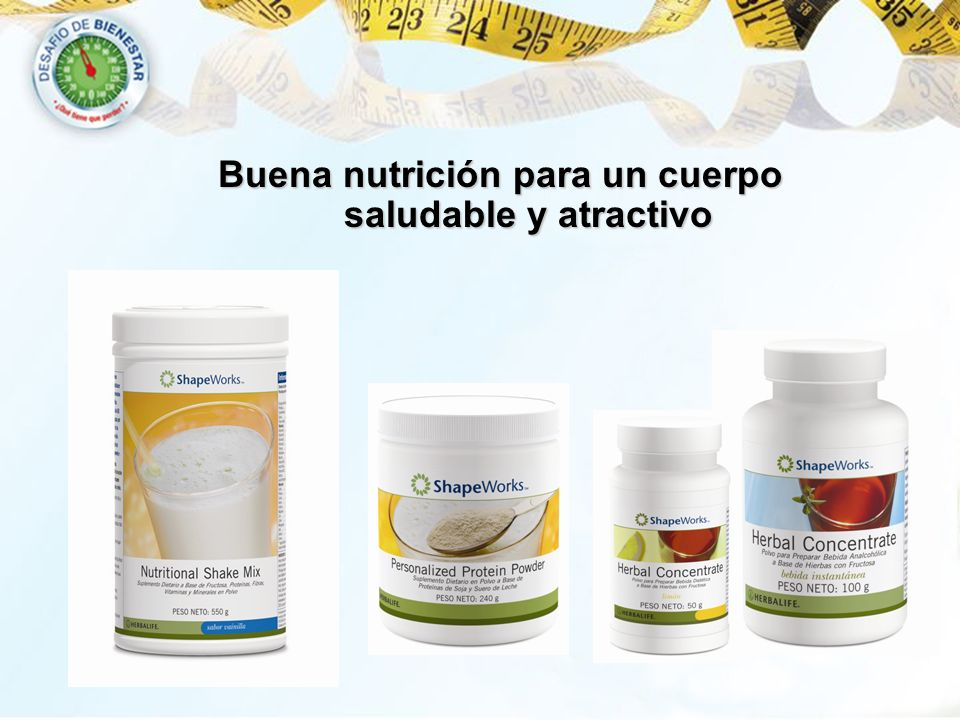 Buena nutrición para un cuerpo saludable y atractivo