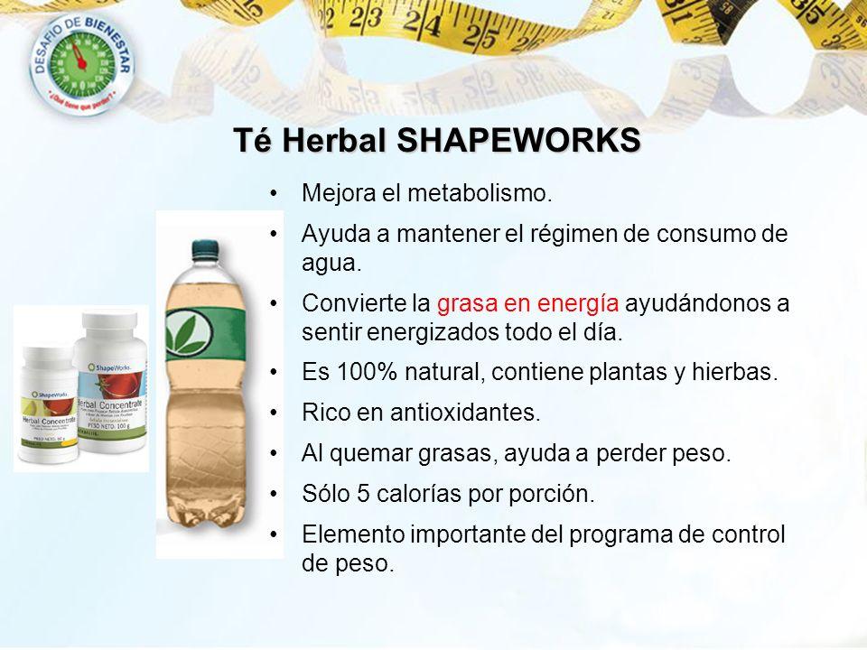 Té Herbal SHAPEWORKS Mejora el metabolismo.