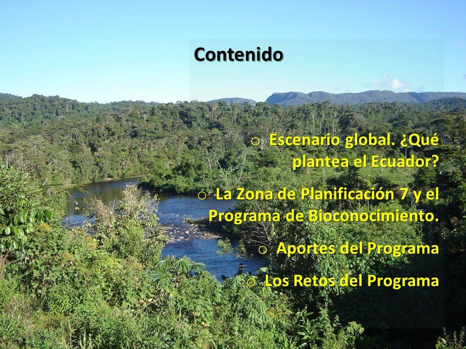 Contenido Escenario global. ¿Qué plantea el Ecuador