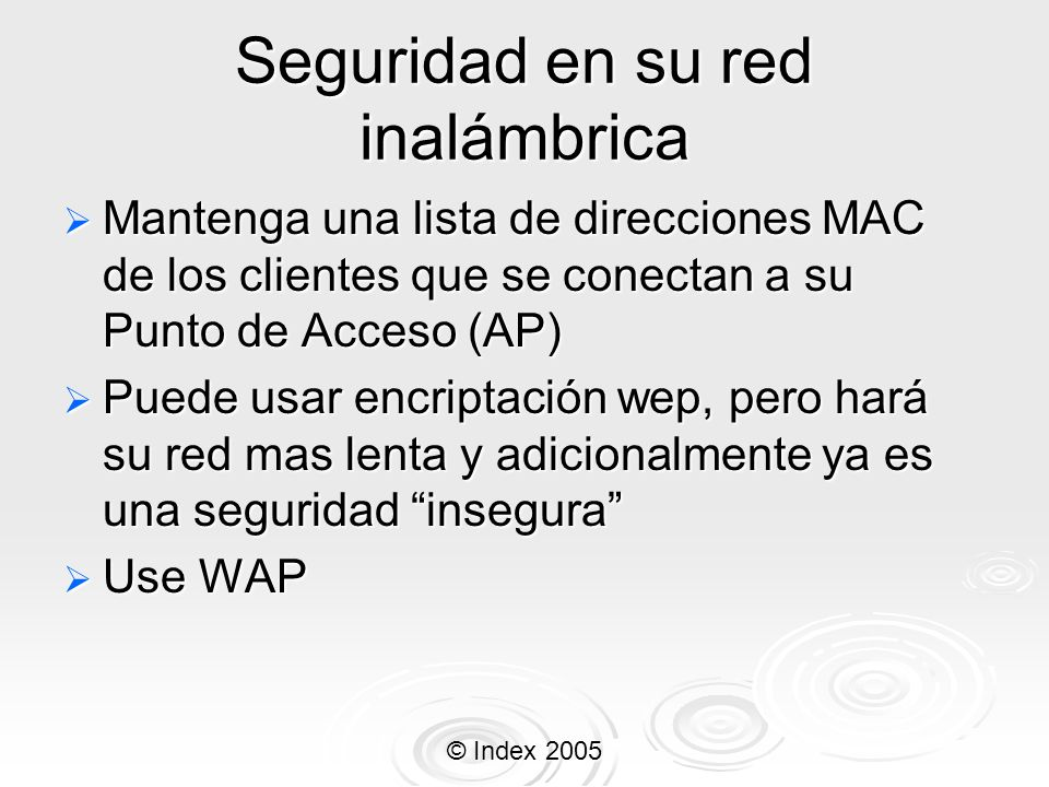 Seguridad en su red inalámbrica