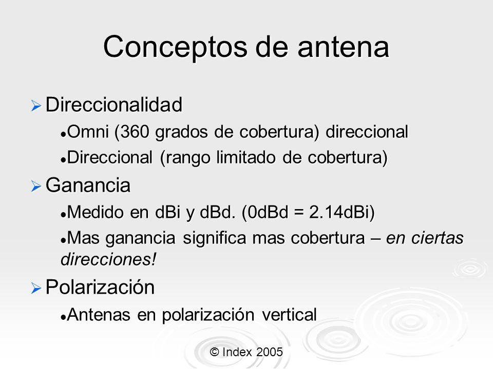 Conceptos de antena Direccionalidad Ganancia Polarización