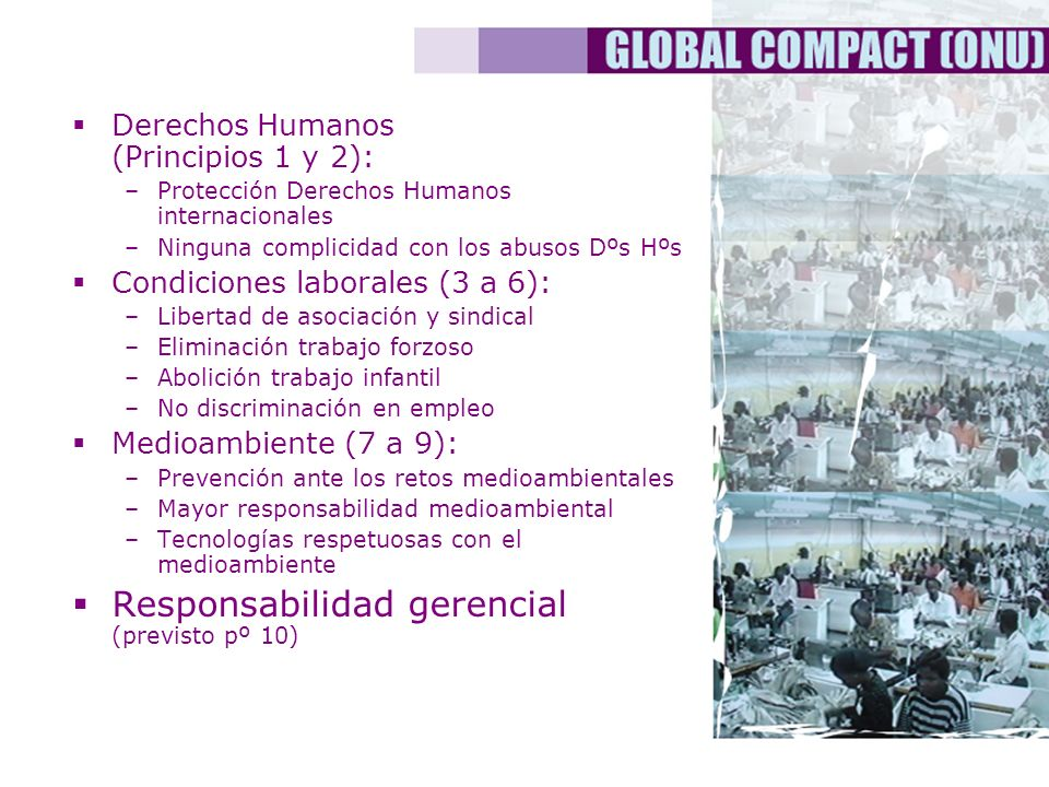 Responsabilidad gerencial (previsto pº 10)