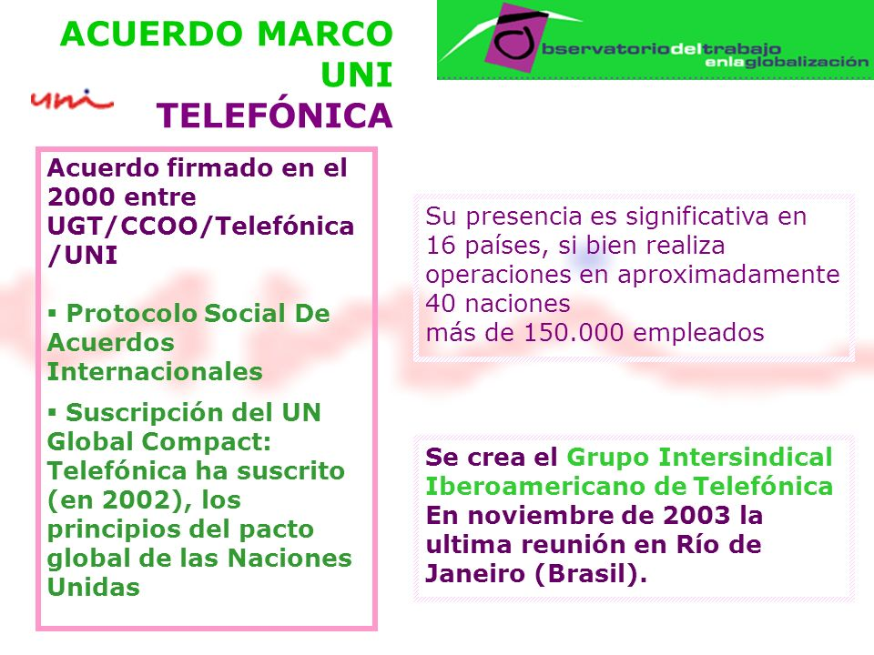 ACUERDO MARCO UNI TELEFÓNICA