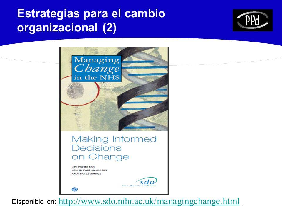 Estrategias para el cambio organizacional (2)