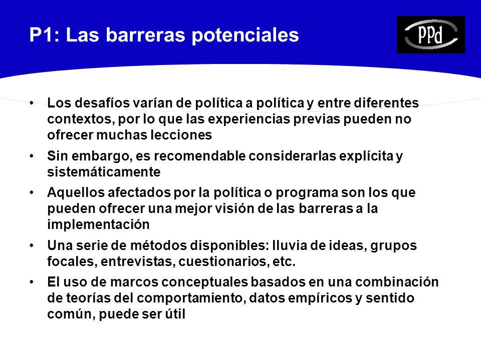 P1: Las barreras potenciales