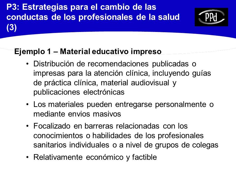 P3: Estrategias para el cambio de las conductas de los profesionales de la salud (3)