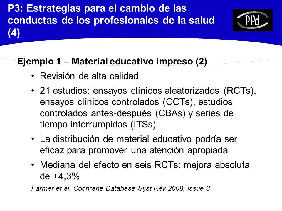 P3: Estrategias para el cambio de las conductas de los profesionales de la salud (4)