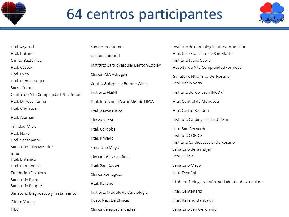 64 centros participantes