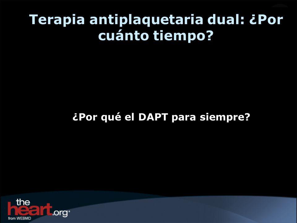 Terapia antiplaquetaria dual: ¿Por cuánto tiempo