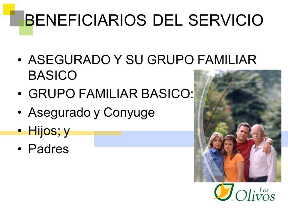 BENEFICIARIOS DEL SERVICIO