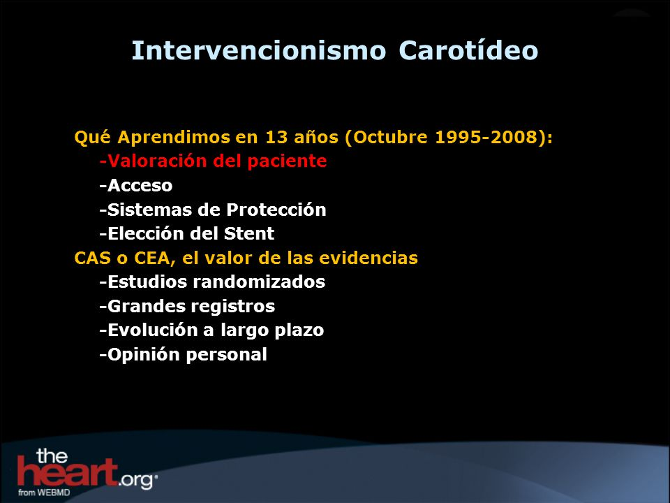 Intervencionismo Carotídeo