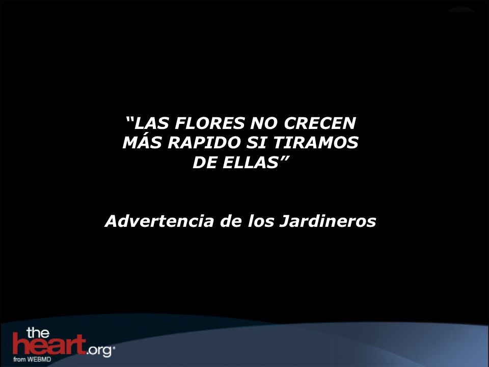 Advertencia de los Jardineros