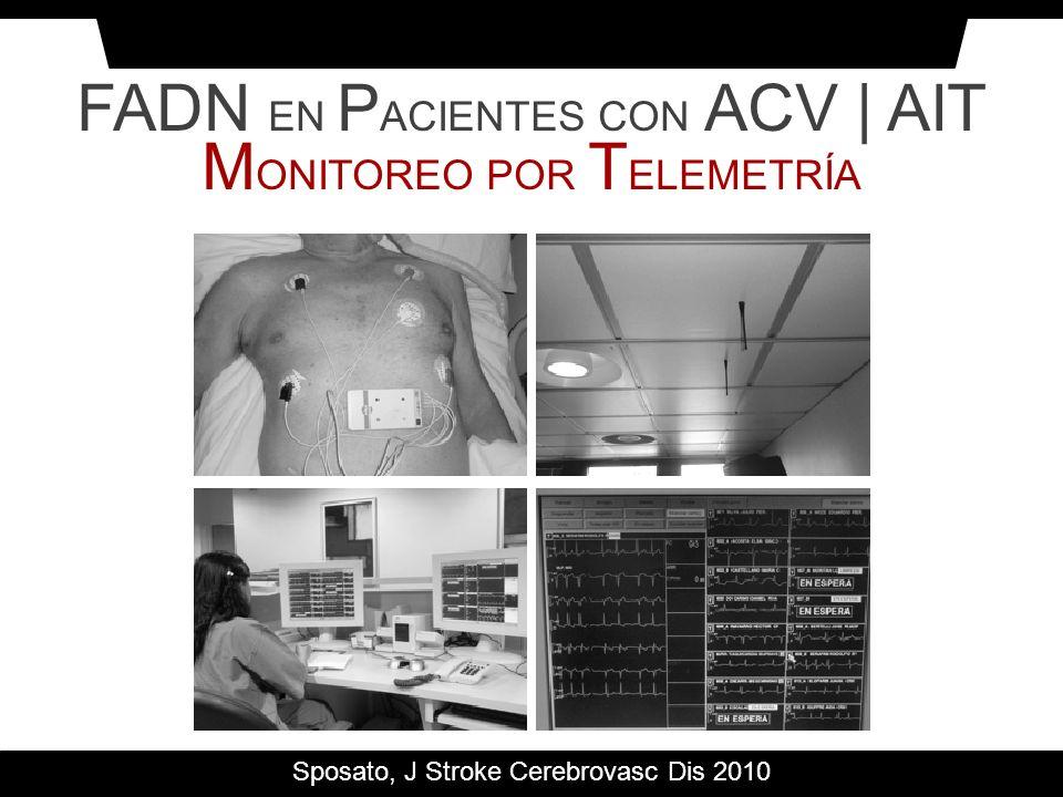 FADN EN PACIENTES CON ACV | AIT MONITOREO POR TELEMETRÍA