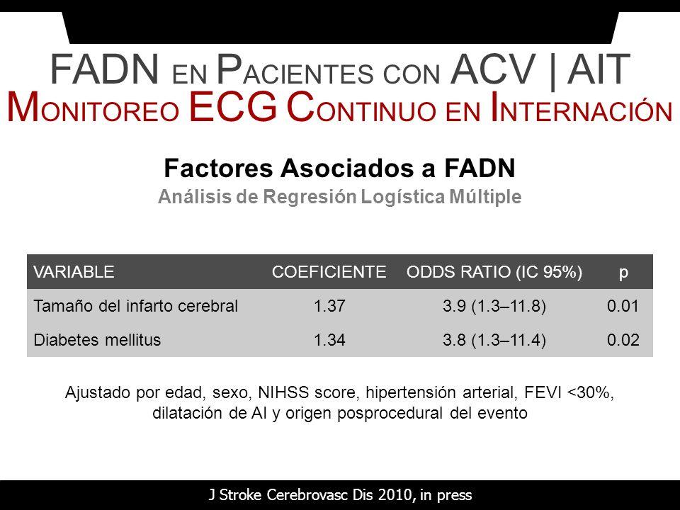 Factores Asociados a FADN Análisis de Regresión Logística Múltiple