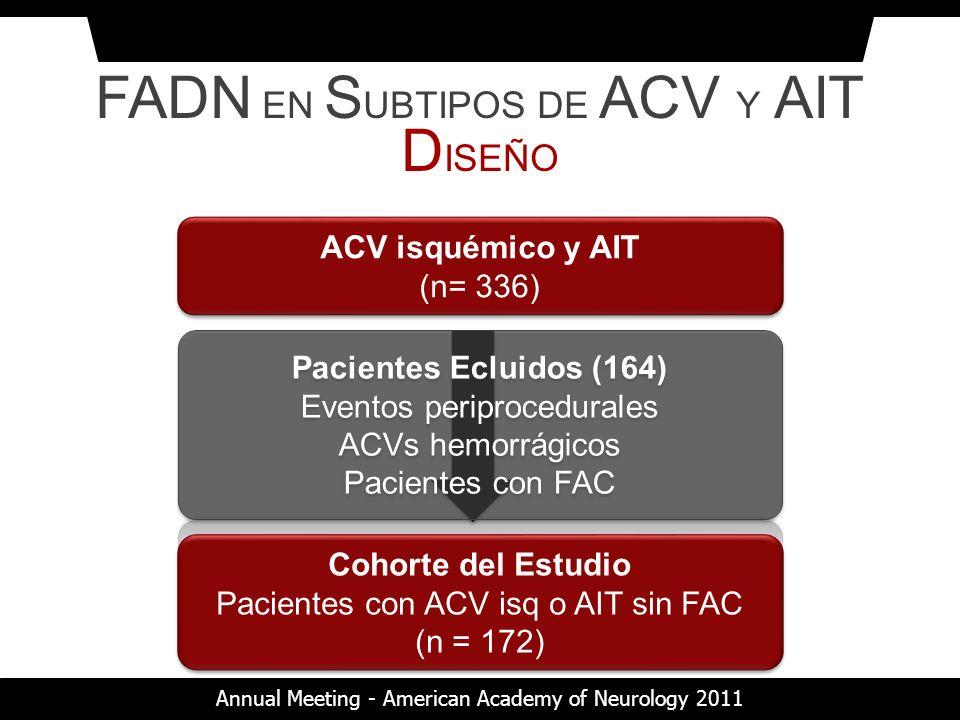 FADN EN SUBTIPOS DE ACV Y AIT DISEÑO