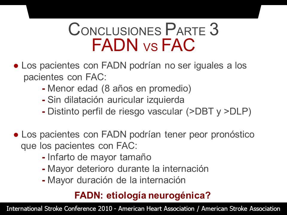FADN: etiología neurogénica
