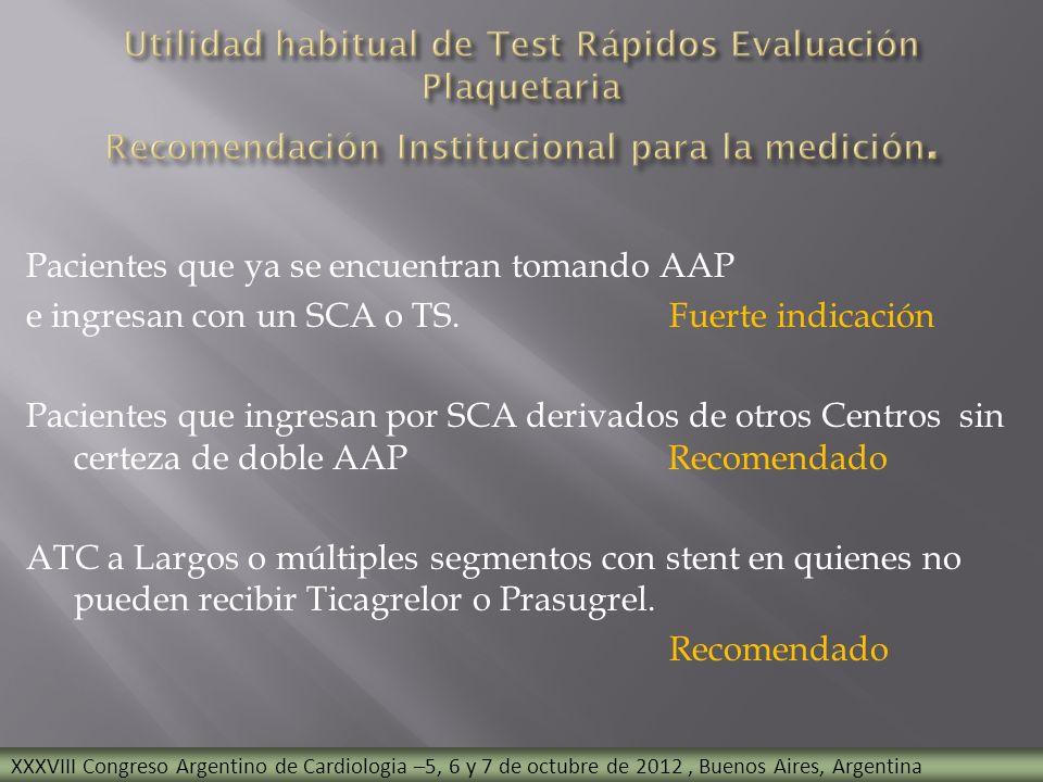 Pacientes que ya se encuentran tomando AAP