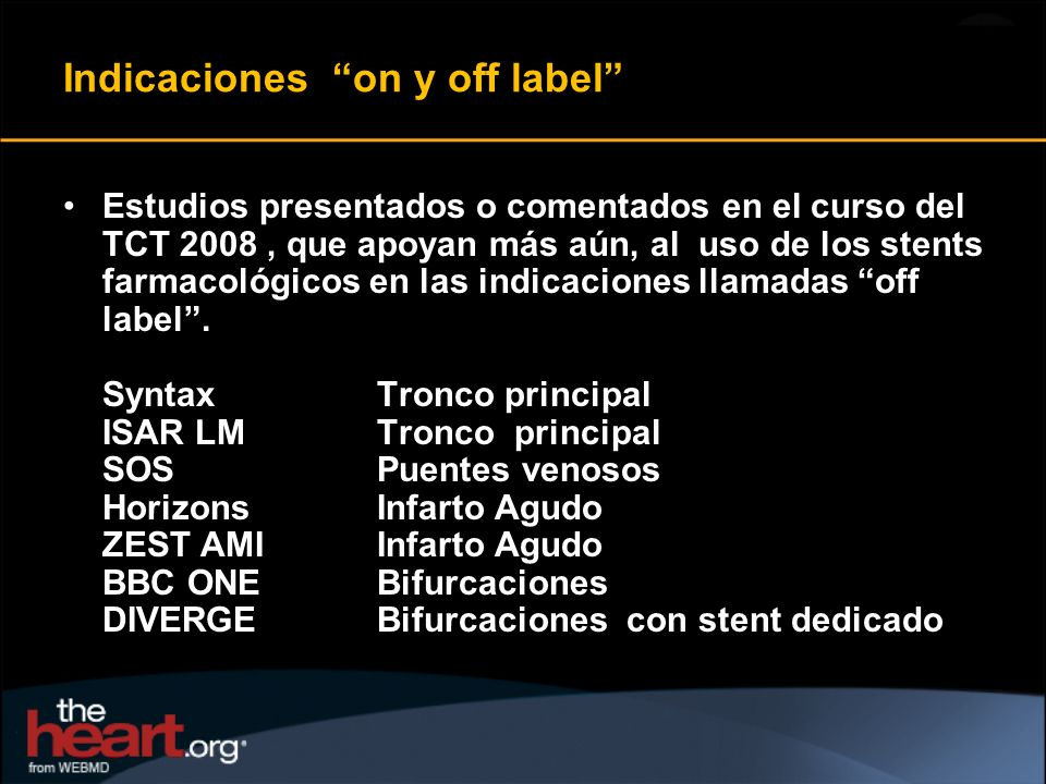 Indicaciones on y off label