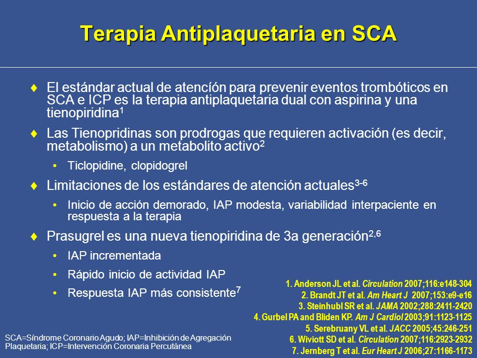 Terapia Antiplaquetaria en SCA