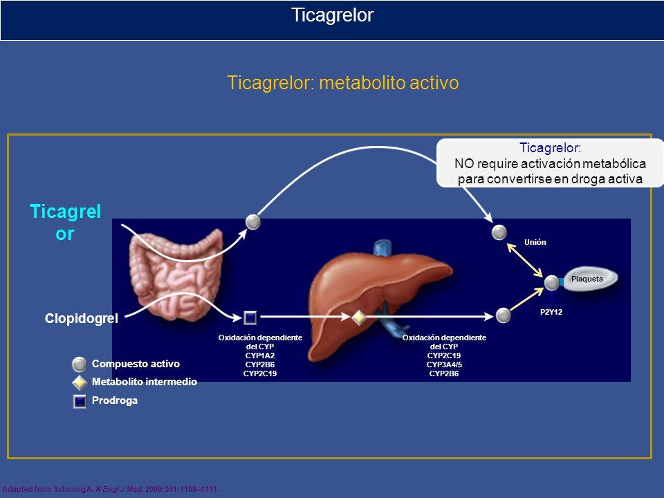 Ticagrelor: metabolito activo