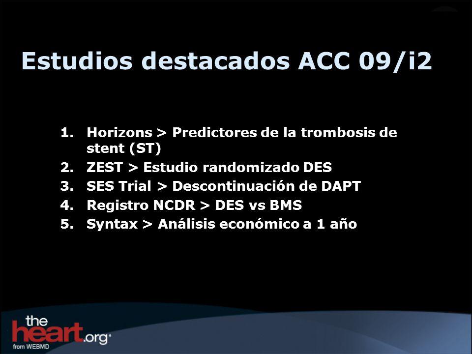 Estudios destacados ACC 09/i2